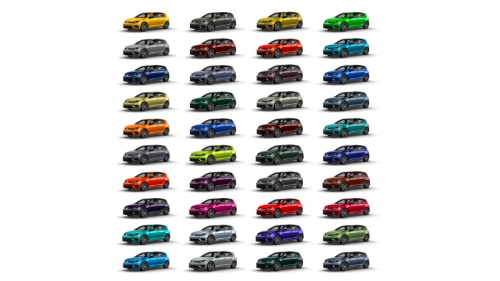 2019 Golf R Color Chart